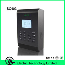 Good quality TCP/IP 125KHZ RFID card access control system smart card access control with free software and SDK sc403(Hong Kong)