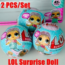 2PCS of Set 18 Style Random  boneca Dress Change LOL SURPRISE DOLL Baby Open Color Change Egg Doll Action Figure Toys