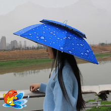 Double layer Head umbrella Hat for Travel / Fishing(China)