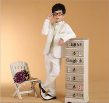 6/pcs children clothing sets pure color boys blazers wedding sets boys tuxedo suits Student performance clothes free shopping(China)
