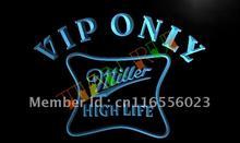 LA435- VIP Only Miller Hight Life Beer LED Neon Light Sign