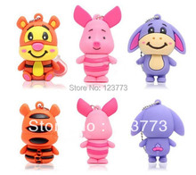 1pcs cartoon animal tiger /pig/donkey usb 2.0 memory flash drive pendrive