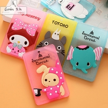 Hot Portable Silicone Bus Card Case Holder Cute Cartoon Kitty Cat Care Student ID Identity Badge Credit Cards Cover With Lanyard(China)