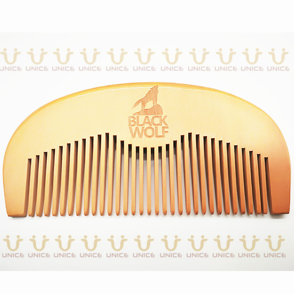 100pcs/lot Your LOGO Customized Private Label Combs Hair Beard Wood Comb for Men & Women for Barber Shop Retail Case 55