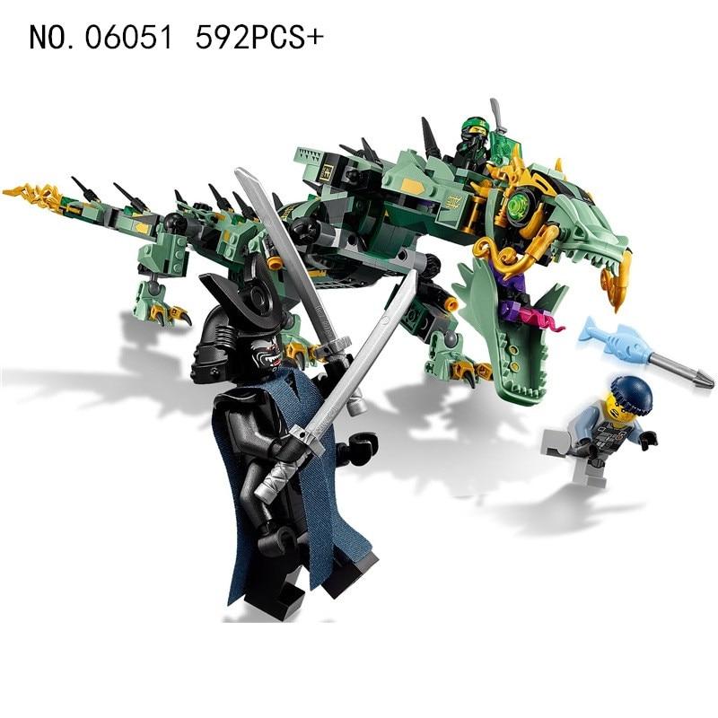 Lepin-06051-592pcs-Compatible-legoing-70612-Ninjagoe-Flying-Mecha-Dragon-Building-Blocks-Bricks-Toys-children-gift