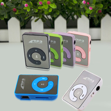Mini Mirror No Screen MP3 Clip Plugin Card Smart Music Player Portable Sports Leisure Perfect Sound MP3 Player Memory Play(China)