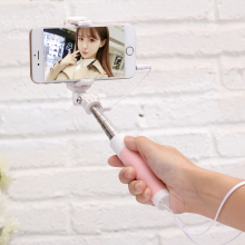 FLOVEME Universal Mini Macaron Extendable Selfie Stick 360 Degree Rotated Portable Self Monopod For iPhone Samsung Huawei Xiaomi(China)