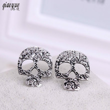Retro Earrings Jewelry Fashion Trends Skulls Skull Earrings For Women Gift Personalized Stud Earrings Brincos Boucle Doreille(China)
