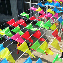 50M Colorful Triangular Flag Pennant String Banner Festival Party Holiday Decorate(China)