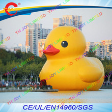 free air shipping to door,16.5ft/5m giant Advertising Inflatable water floating Yellow Duck animal  in sea/pool/lake