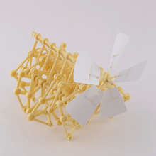 Free Shipping DIY Creature Puzzle Wind Powered Walker Walking Strandbeest Assembly Powerful model Toy Children Gift
