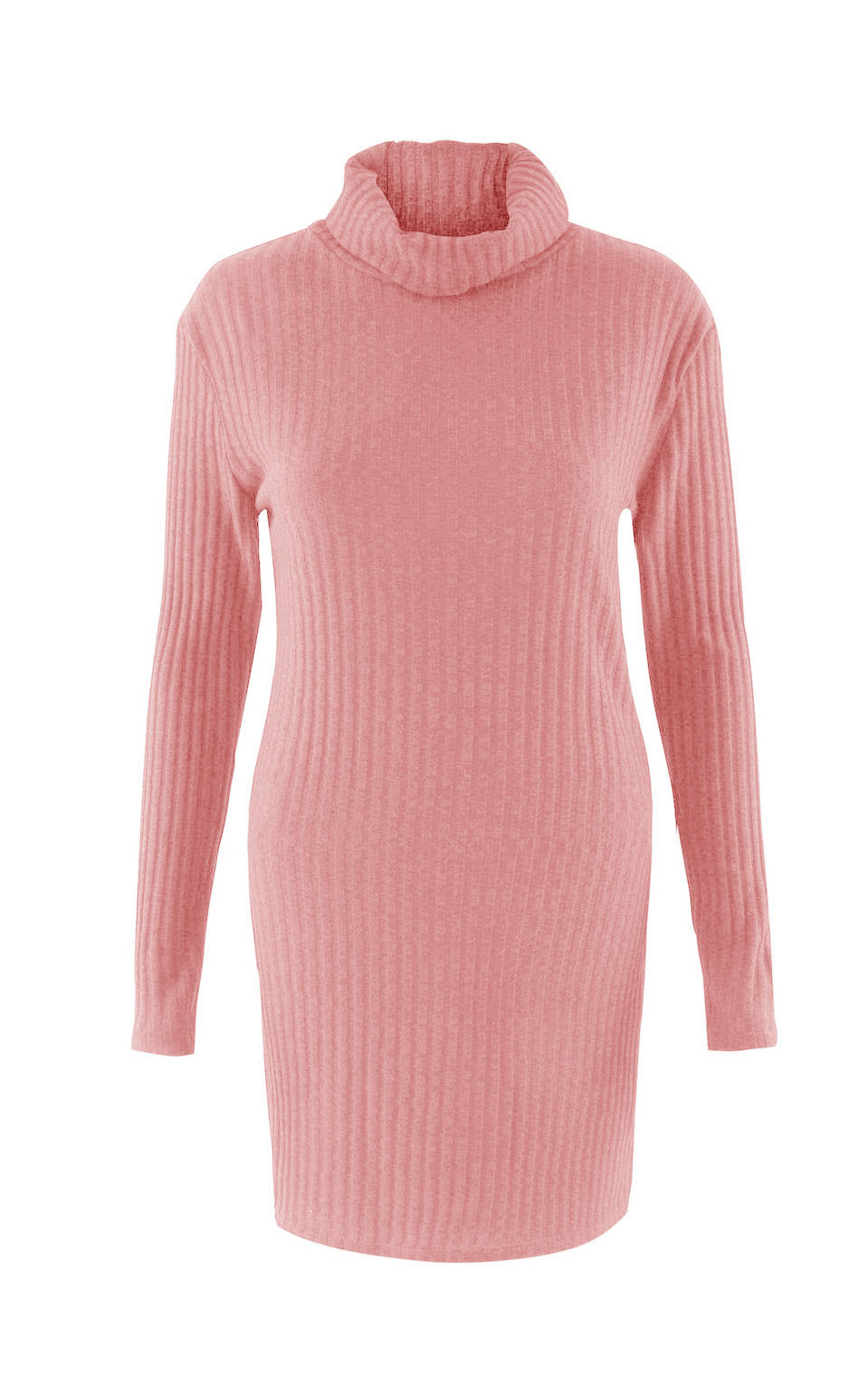 Turtleneck Long knitted pullover sweater, Women's Jumper, Casual Sweater 43