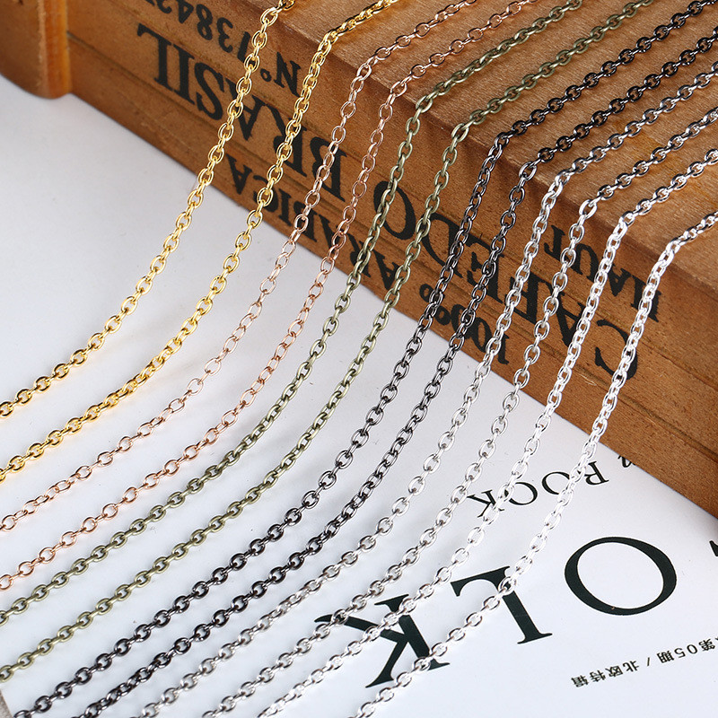 5meters 2mm Width Stainless Steel Link Chain Findings for Necklace Bracelet Make