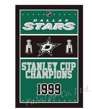 Dallas Stars champions flag 90x150cm polyester digital print banner with 2 Metal Grommets 3x5ft