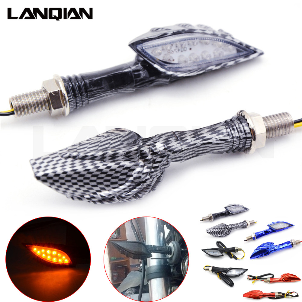 Indicators Z900 250r Z650 Blinker-Light Light-Amber Turn-Signal CB400 Universal Motorcycle title=