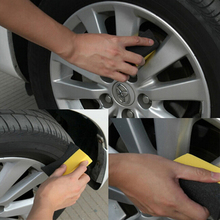 2PC/Lot Auto Wheels Brush Sponge Tools Applicator Special for Tire Hub Cleaning Dressing Waxing Polishing Brush