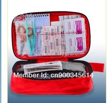 Free shipping deluxe 50pcs contents emergency first aid kit bag(CE,FDA APPROVED)(China)