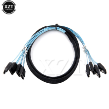 Hot Product 6Gbps 4pcs/set Sata Cable Sas Cable High Quality for Server 1M Blue(China)