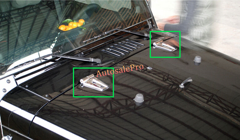 Abs Chrome Front Hood Hinge Cover Trim 4Pcs For Jeep Wrangler Rubicon 07-15(China)