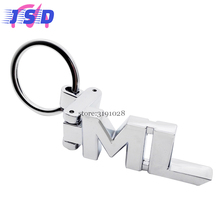 Car Styling Metal Key Chain Key Ring For ML Logo Auto Keychain Accessories For Mercedes Benz ML Class ML400 ML320 ML350(China)