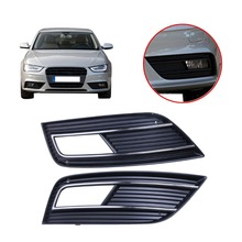 Left & Right Front Bumper Grills Fog Light Grille Cover For Audi A4 2013 - 2014 High Quality Car Accessory #9296