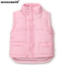WEONEWORLD Brand Child Outerwear Baby Waistcoat Winter High Quality Children Cotton Vest Kids Boys Girls Clothes Warm Coat(China)