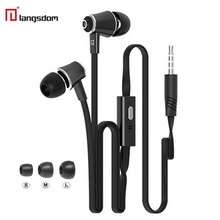 Original Langsdom JM21 stereo earphones with Microphone Super Bass 3.5mm In-Ear Earphone Headset For iphone xiaomi earbud Earpod