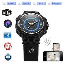 2017Spied Sport Camera Wifi watch Mini P2P WiFi IP Camera Pocket Mini DVR WIFI Watch Built 8G Bicycle Video Recorder wifi Watch(China)