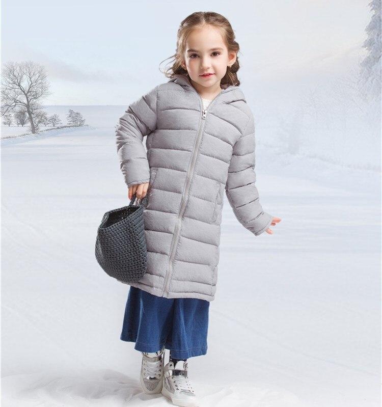 New Fashion Hooded Light Girls Down Jacket 4-14T Teenage Winter Jackets Winter Suit Clothing KW-1637Îäåæäà è àêñåññóàðû<br><br>