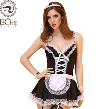 Buy Leechee Q897 Women sexy lingerie hot erotic sexy underwear servant uniforms temptation sexy maid suit fun cosplay porn costumes