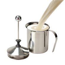 NEW Milk Frother Cappuccino 800mL Stainless Steel Milk Creamer Foam Double Mesh    TB Sale
