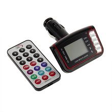 "1pcs Brand New Wireless FM Transmitter USB Slot 1.8"" LCD MP3 Player Remote Control"
