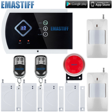 English/Russian/Spanish/French Wireless wired Home Security GSM Alarm System with IOS Android APP Remote Control Alarm system(China)