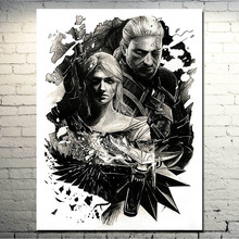 POPIGIST-The witcher 3 Wild Hunt Art Silk Fabric Poster Huge Print 13x18 24x32inch Game Picture for Wall Decor (NEW)