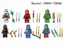 DECOOL10041-10046 NINJAGOES Lloyd Jay Kai Zane Building Blocks Model Bricks kids Toys - Star Store store
