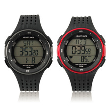 New Fashion Outdoor Sports Watches Wireless Chest Strap Heart Rate Watch Heart Rate Monitor Watch + Chest Belt 2 PCS Set relogio