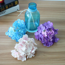 Artificial Hydrangea Silk Flower MULIT COLOR DIY Decorative Flower for Wedding Party Birthday Decoration Table accessories(China)
