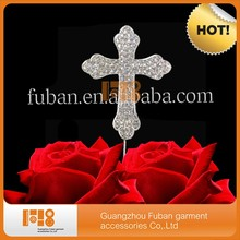 (20pieces/lot)free shipping Christening decoration Cross Rhinestone Crystal Cake Topper For cake decoration