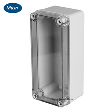 IP67 Transparent Cover Electrical Distribution Box Plastic Box Clear Cover Plastic Enclosure 80*180*70mm connector(China)