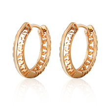 Hollowed-out  Gold Color Hoop Earrings for Women Geometric Gold Earings Wedding Jewelry Korea Jewellery Free Shipping
