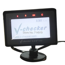 Newly updated version V4.36 V-Checker A301 OBD trip computer support Spanish&Russia&Hungarian&Polish suit all OBD compliant car
