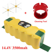 3500mAh Battery Robotics for iRobot Roomba 500 510,530,535,540,550,560,570,580+2pcs Side Brushes and cleaning tools