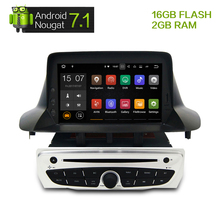 "7"" Android7.1 Car Stereo DVD Player GPS Glonass Navigation for Renault Megane 3 Fluence 2GB RAM Video Multimedia Radio headunit(China)"