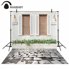 Allenjoy photography backdrop Blinds creative personalized flower wall brick wall new background photocall customize photo print(China)