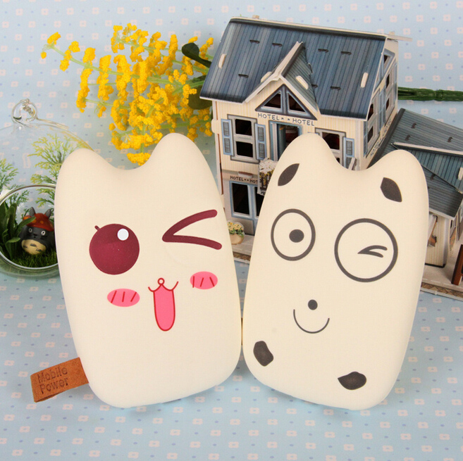 Free Shipping Mobile Power Bank 8000mah Dual USB Lovely Cartoon Powerbank External Battery Portable Charger for all phone<br><br>Aliexpress