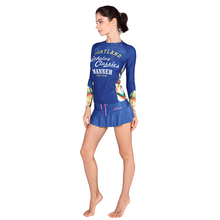 Anti-UV Quick-dry Rash Guard Women Swim Skirt Long Sleeve Rashguards Woman Surfing Shirt Diving Top Swimwear VY020(China)