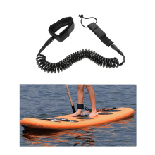 10'/12' Surfboard Leash Surfing Foot Leash Rope Stand Up Paddle Board Surf Leash Coiled Cord Wrist Ankle Safety Swivel Leash