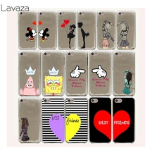 Lavaza 10FF cute Mickey kiss bbf best friends lover Hard Case For iPhone 8 7 6 6s Plus 5 5s 5C SE 4 4S cover X 10(China)
