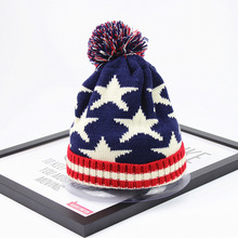 New 2017 Winter Style Skullies Fashion Men Caps warm thick wool knitted caps unisex star beanies casual brand snow caps for lady