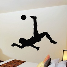 Football Player Sticker Sports Soccer Decal Helmets Girl Kids Room Name Posters Vinyl Wall Decals Football Sticker(China)